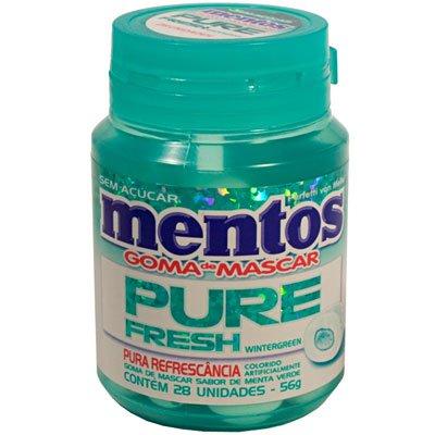 Mentos goma pure fresh wintergreen garrafa 56g Mentos PT 1 UN