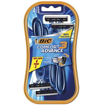 Aparelho barbeador Bic Comfort 3 Leve 4 Pague 3 929849 Bic BT 4 UN