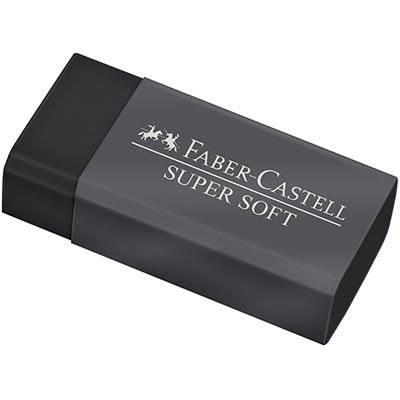 Borracha Dust Free preta SM/SOFTBOR Faber Castell BT 1 UN