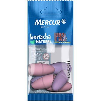 Borracha ponteira colors rosa/lilás B01010101029 Mercur BT 6 UN
