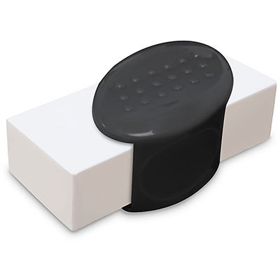 Borracha c/ cinta plástica preta 17103 Oval BT 1 UN