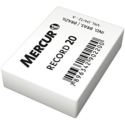 Borracha branca escolar Record 20 B0101004-01 Mercur CX 20 UN