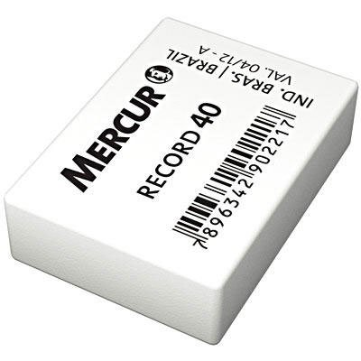 Borracha branca escolar Record 40 B0101005-01 Mercur CX 40 UN
