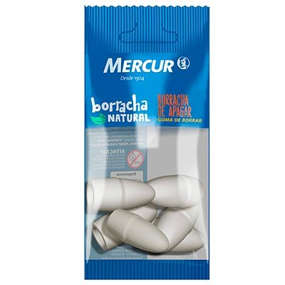 Borracha ponteira branca pull pack B01010301014 Mercur BT 6 UN