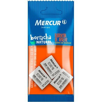 Borracha branca escolar record 40 pull pack B01010301008 Mercur BT 3 UN