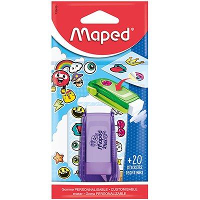 Borracha Stick Art, com cartela de adesivo, plástica, cores sortidas, 120410, Maped BT 1 UN