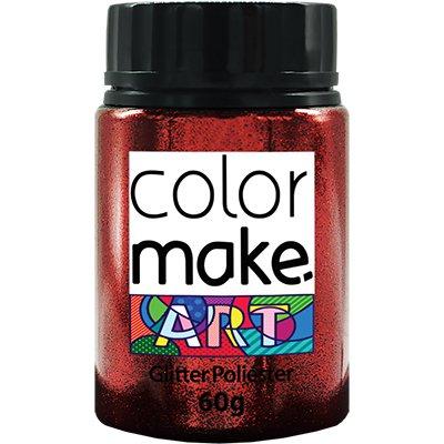 Glitter vermelho 60g Colormake 7136 Yur PT 1 UN