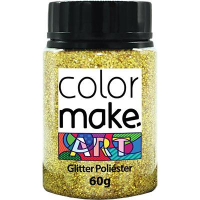 Glitter ouro holográfico 60g Colormake 7126 Yur PT 1 UN
