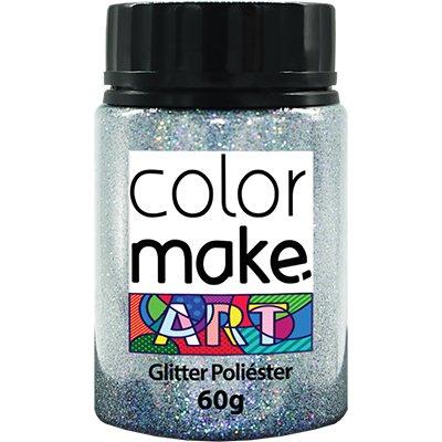 Glitter prata holográfico 60g Colormake 7130 Yur PT 1 UN