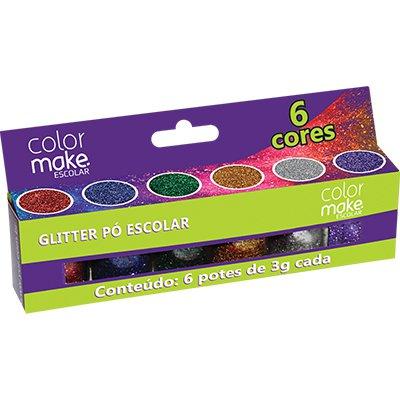 Glitter escolar (c/6 cores sortidas) 3g Yur CT 1 CJ