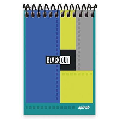 Caderneta apontamento 96fls 94x130 Black Out 20089 Spiral Blk PT 1 UN