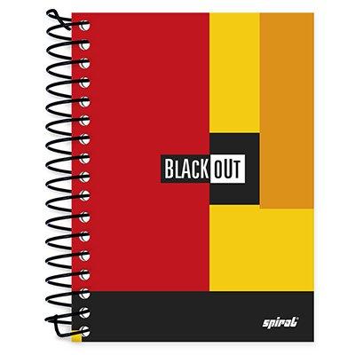 Caderneta 1/8 capa dura 200fls Black Out vm 74878 Spiral Blk PT 1 UN