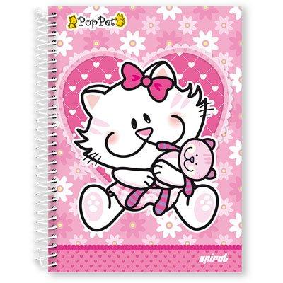 Caderneta 1/8 capa dura 200fls Pop Pet 97686 Spiral Pop PT 1 UN