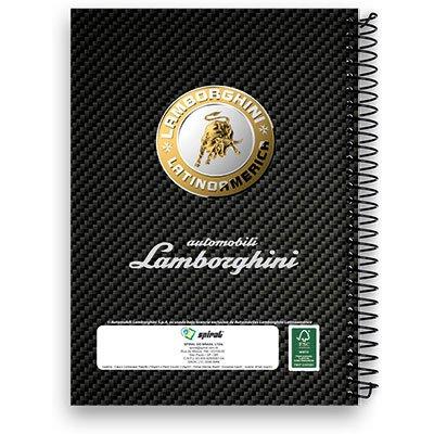 Caderneta 1/8 capa dura 200fls Lamborghini 00996 Spiral Lb PT 1 UN