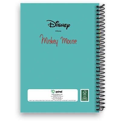 Caderneta 1/8 capa dura 200fls Mickey Minnie 12302 Spiral Dm PT 1 UN