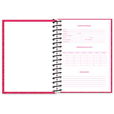 Caderneta 1/8 capa dura 200fls T.da Mônica 20910 Spiral Tdm PT 1 UN