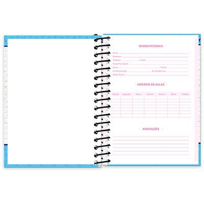 Caderneta 1/8 capa dura 200fls My Pet 20909 Spiral Pet PT 1 UN