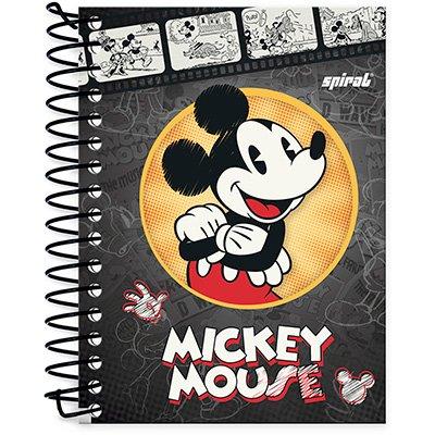 Caderneta 1/8 capa dura 200fls Mickey&Minnie 20899 Spiral Dm PT 1 UN