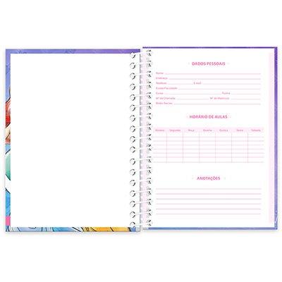 Caderneta 1/8 capa dura 200fls Princesas 20900 Spiral Pn PT 1 UN
