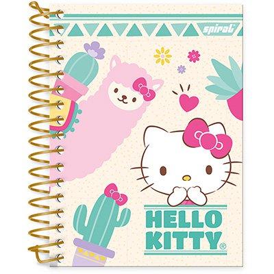 Caderneta 1/8 capa dura 200fls Hello Kitty 20906 Spiral Hki PT 1 UN