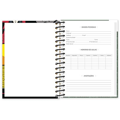 Caderneta 1/8 capa dura 200fls Minions 20908 Spiral Mim PT 1 UN