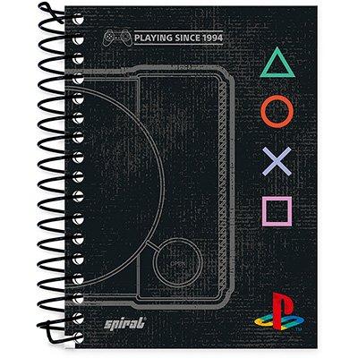 Caderneta 1/8 capa dura 96fls Playstation 20885 Spiral Ps PT 1 UN