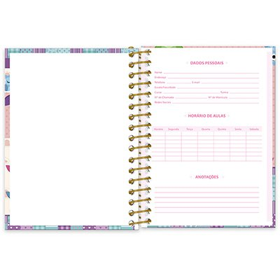 Caderneta 1/8 capa dura 96fls Corujinhas 20872 Spiral Cor PT 1 UN