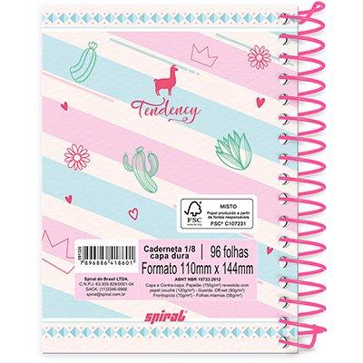 Caderneta 1/8 capa dura 96fls Lhama 20892 Spiral Ten PT 1 UN