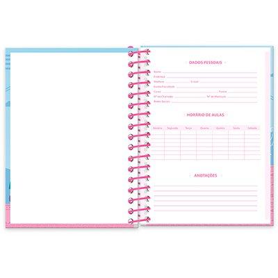 Caderneta 1/8 capa dura 200fls Lhama 20913 Spiral Ten PT 1 UN