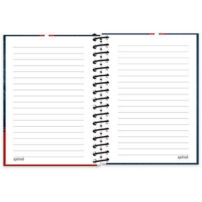 Caderneta 1/8 capa dura 200fls PSG 20984 Spiral Psg PT 1 UN