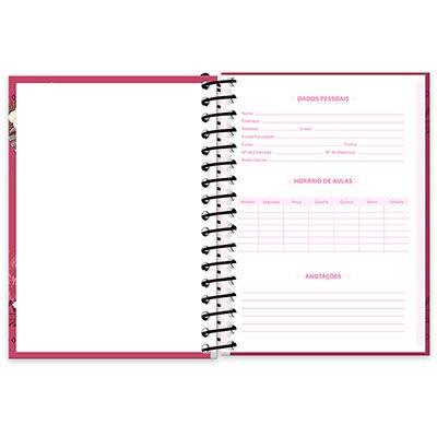Caderneta 1/8 capa dura 200fls Hang Loose 20915 Spiral Ha PT 1 UN