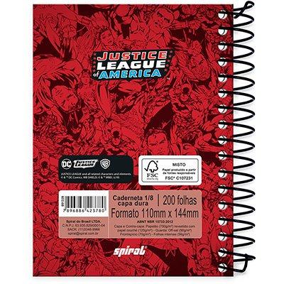 Caderneta 1/8 capa dura 200fls L Justiça 20977 Spiral Lig PT 1 UN