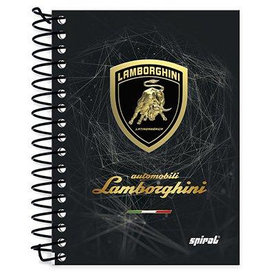 Caderneta 1/8 capa dura 200fls Lamborghini 20918 Spiral Lb PT 1 UN