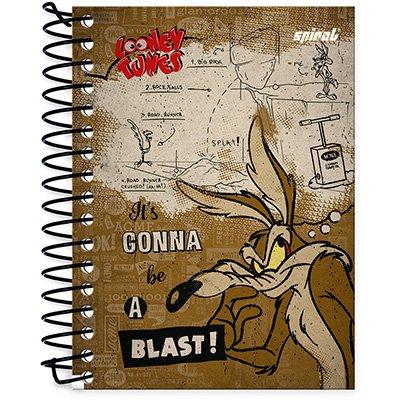 Caderneta 1/8 capa dura 200fls Looney Tunes 20917 Spiral Lt PT 1 UN