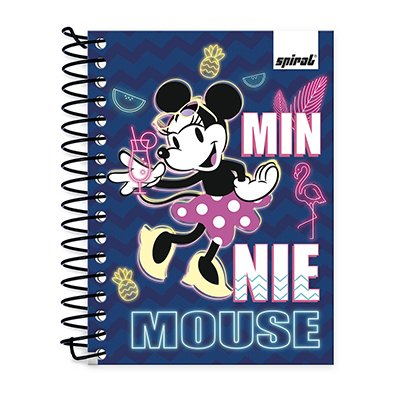 Caderneta 1/8 capa dura 200fls Minnie Ten 20982 Spiral Mte PT 1 UN