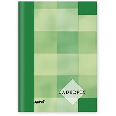 Caderno 1/4 capa dura Caderfix 96 fls verde 90010 Spiral PT 1 UN