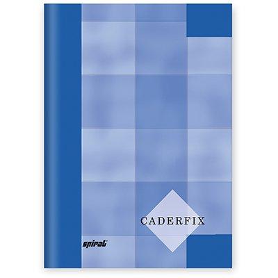 Caderno 1/4 capa dura Caderfix 96 fls azul 90027 Spiral PT 1 UN