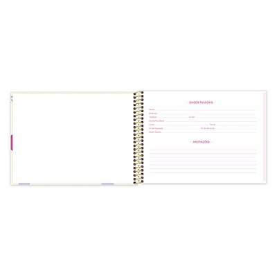 Caderno cartografia 96fls capa dura Hello Kitty 20947 Spiral Hki PT 1 UN