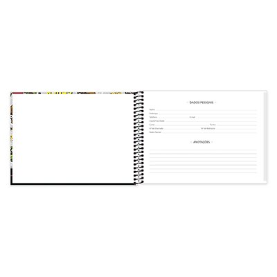 Caderno cartografia 96fls capa dura Minions 20950 Spiral Mim PT 1 UN