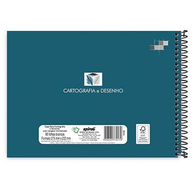 Caderno de desenho e cartografia 96fls capa dura milimetrado 79170 Spiral  PT 1 UN