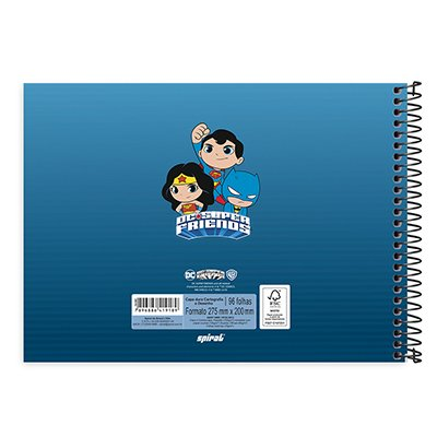 Caderno cartografia 96fls capa dura S.Friends 20946 Spiral Dcf PT 1 UN