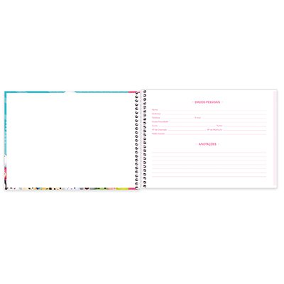 Caderno cartografia capa dura 80fls Tsum Tsum 212929 Spiral Tsum PT 1 UN