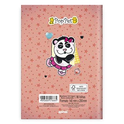 Caderno 1/4 capa dura costurado 96fls Pop Pet 20867 Spiral Pop PT 1 UN