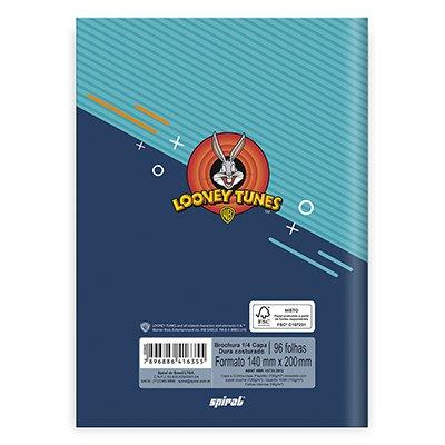 Caderno 1/4 capa dura costurado 96fls Pernalonga 20863 Spiral Lt PT 1 UN