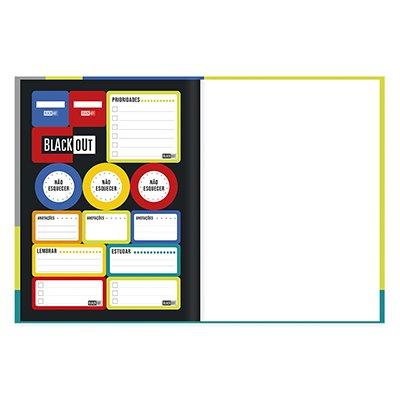 Caderno universitário capa dura brochura costurado 80 folhas Black Out 212212 Spiral PT 1 UN