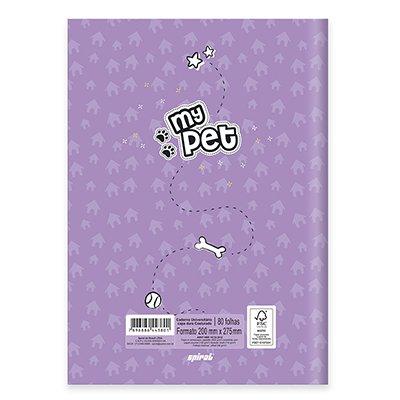 Caderno universitário capa dura brochura costurado 80 folhas My Pet Yorkshire 212248 Spiral PT 1 UN