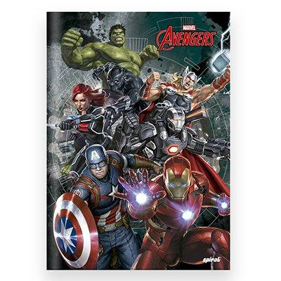 Caderno universitário capa dura brochura costurado 80 folhas Avengers 212208 Spiral PT 1 UN