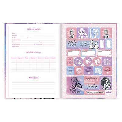 Caderno universitário capa dura brochura costurado 80 folhas Barbie 212210 Spiral PT 1 UN
