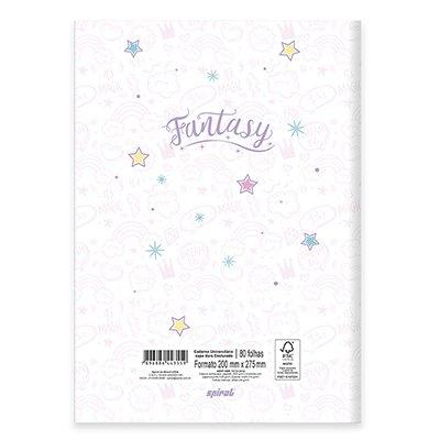 Caderno universitário capa dura brochura costurado 80 folhas Fantasy 212226 Spiral PT 1 UN
