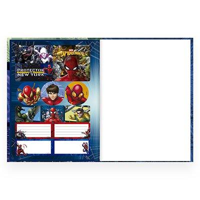 Caderno universitário capa dura brochura costurado 80 folhas Homem Aranha 212233 Spiral PT 1 UN
